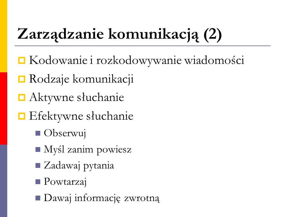 Zarządzanie komunikacją (2)
