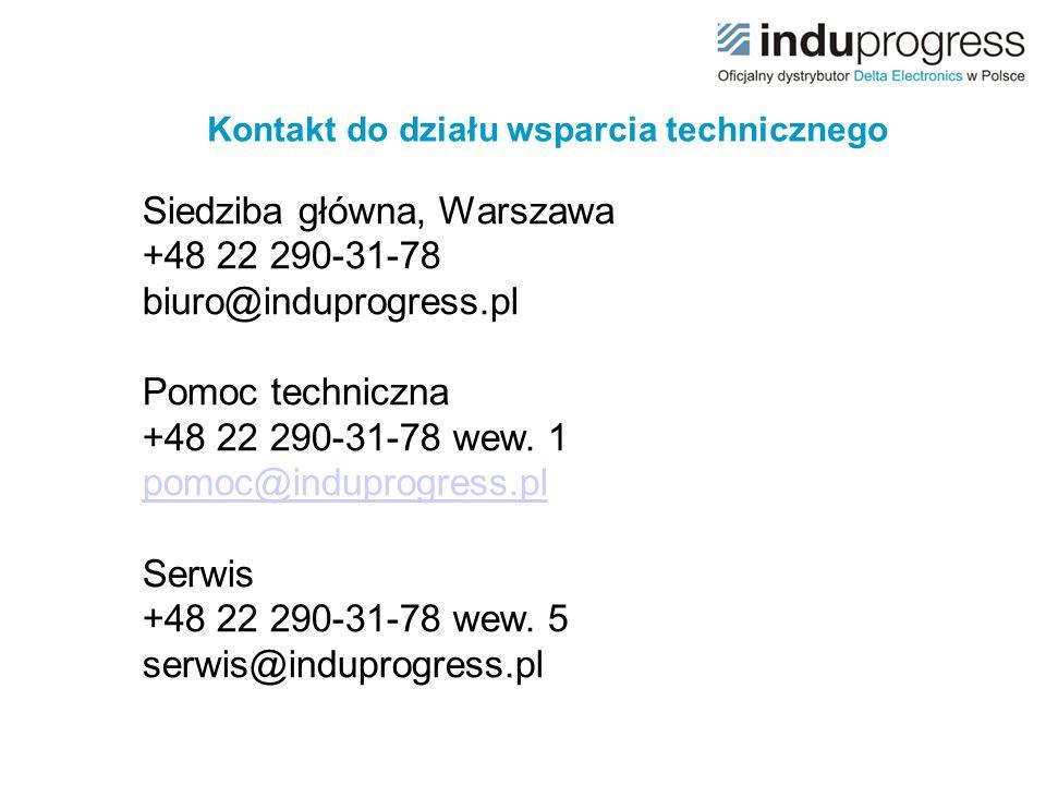 Kontakt do działu wsparcia technicznego