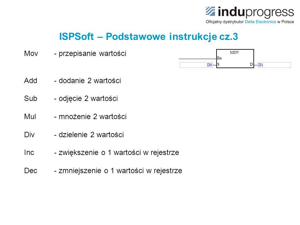 ISPSoft – Podstawowe instrukcje cz.3