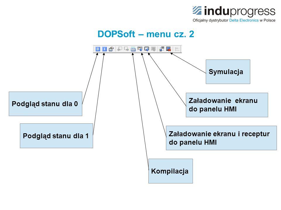 DOPSoft – menu cz. 2 Symulacja Podgląd stanu dla 0