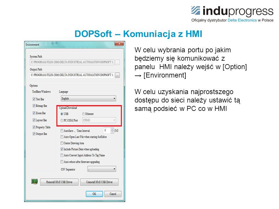 DOPSoft – Komuniacja z HMI