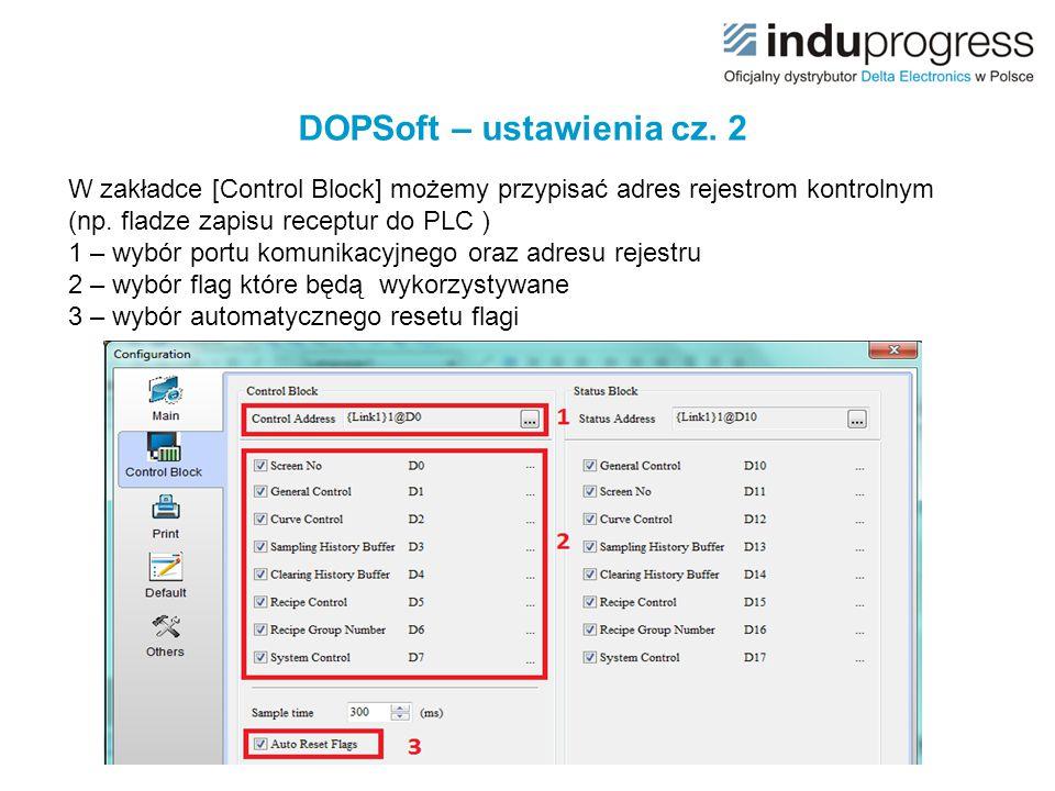DOPSoft – ustawienia cz. 2