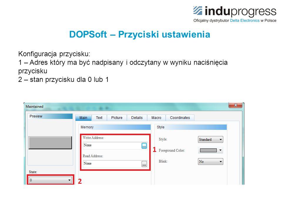 DOPSoft – Przyciski ustawienia