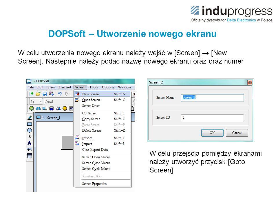 DOPSoft – Utworzenie nowego ekranu