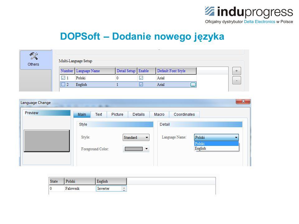 DOPSoft – Dodanie nowego języka
