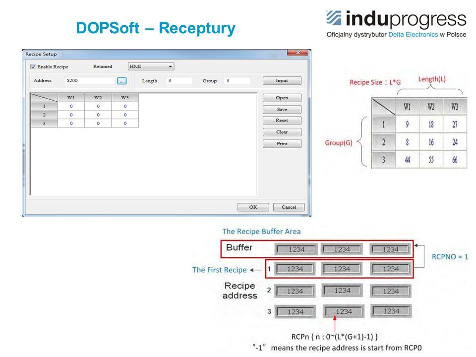 DOPSoft – Receptury