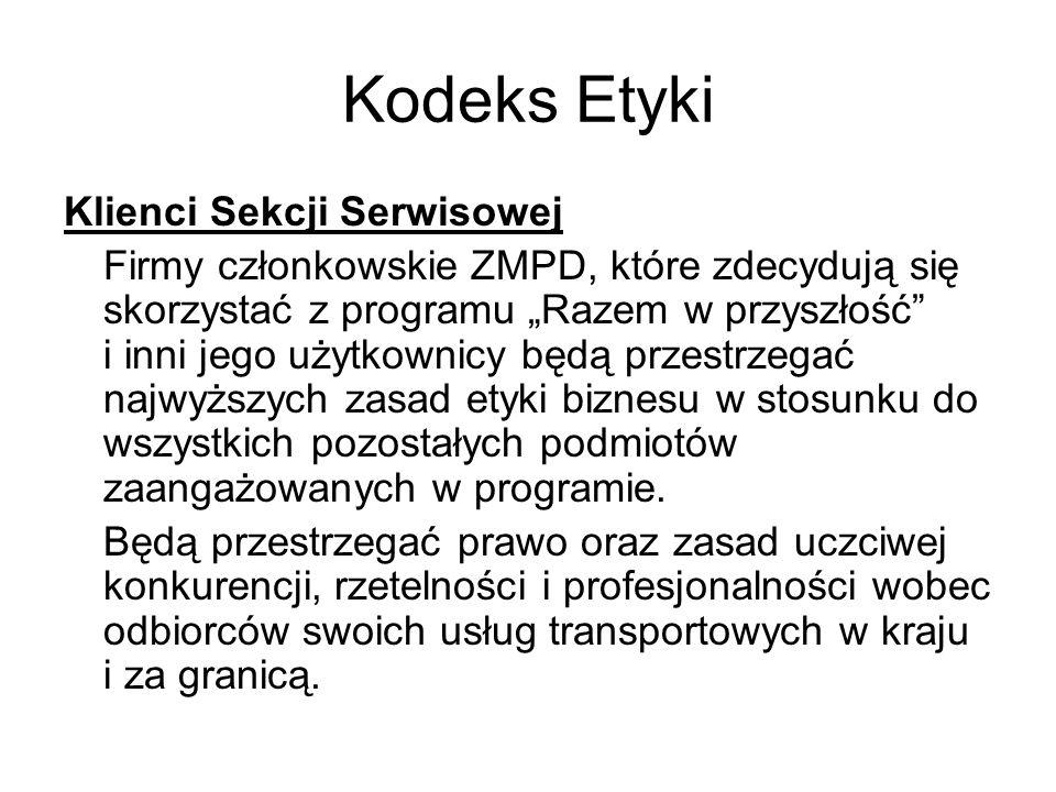 Kodeks Etyki Klienci Sekcji Serwisowej