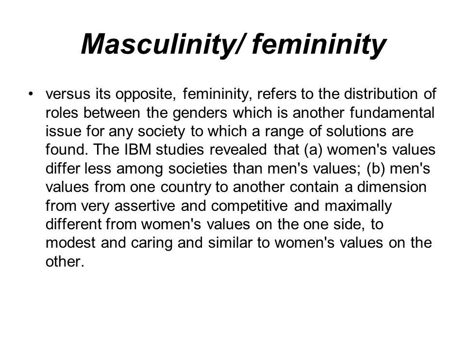 Masculinity/ femininity