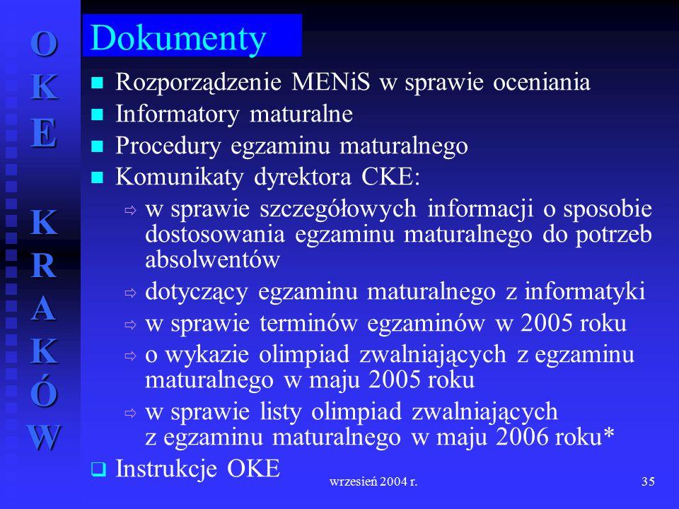 Dokumenty Rozporządzenie MENiS w sprawie oceniania