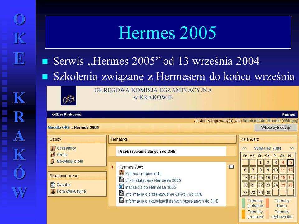 """Hermes 2005 Serwis """"Hermes 2005 od 13 września 2004"""