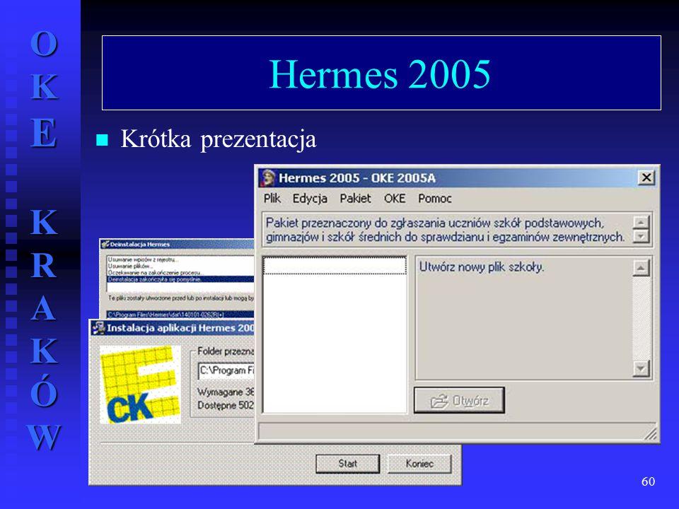 Hermes 2005 Krótka prezentacja wrzesień 2004 r.