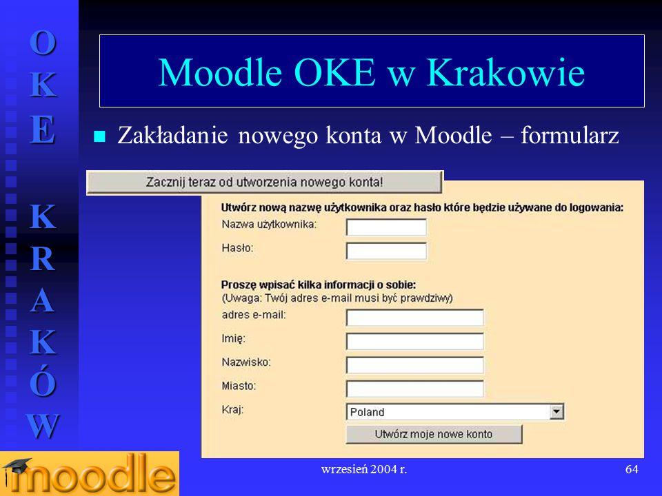 Moodle OKE w Krakowie Zakładanie nowego konta w Moodle – formularz