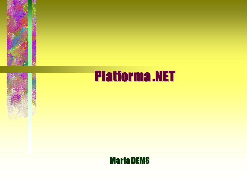 Platforma .NET Maria DEMS