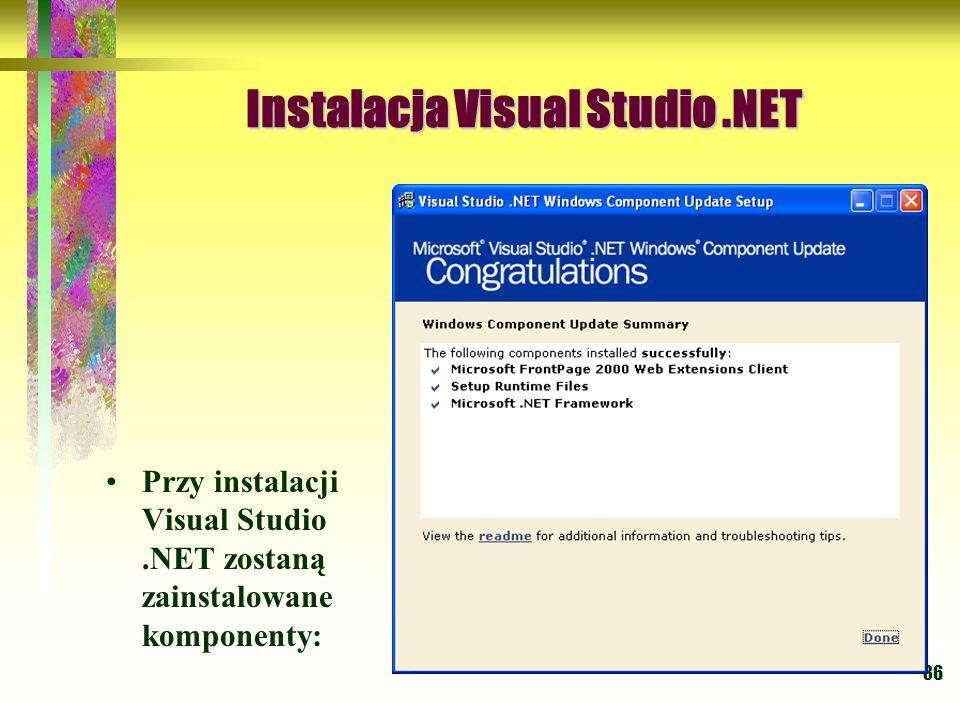 Instalacja Visual Studio .NET