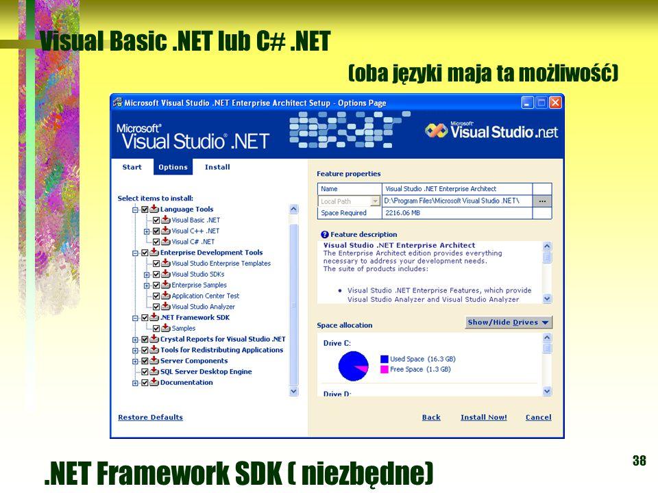 .NET Framework SDK ( niezbędne)