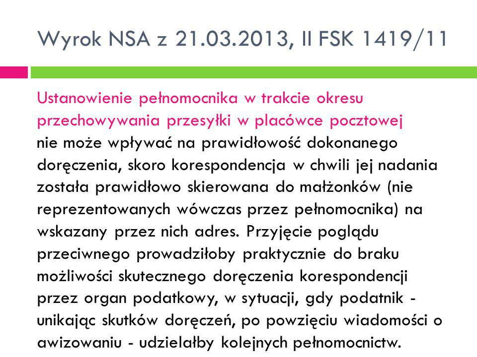 Wyrok NSA z 21.03.2013, II FSK 1419/11
