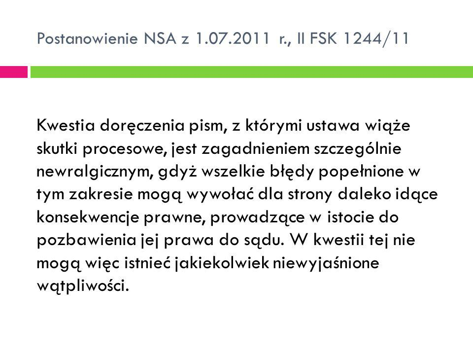 Postanowienie NSA z 1.07.2011 r., II FSK 1244/11