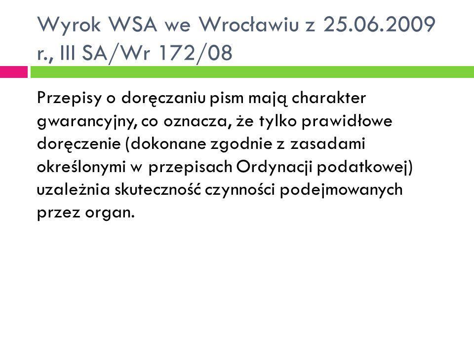 Wyrok WSA we Wrocławiu z 25.06.2009 r., III SA/Wr 172/08