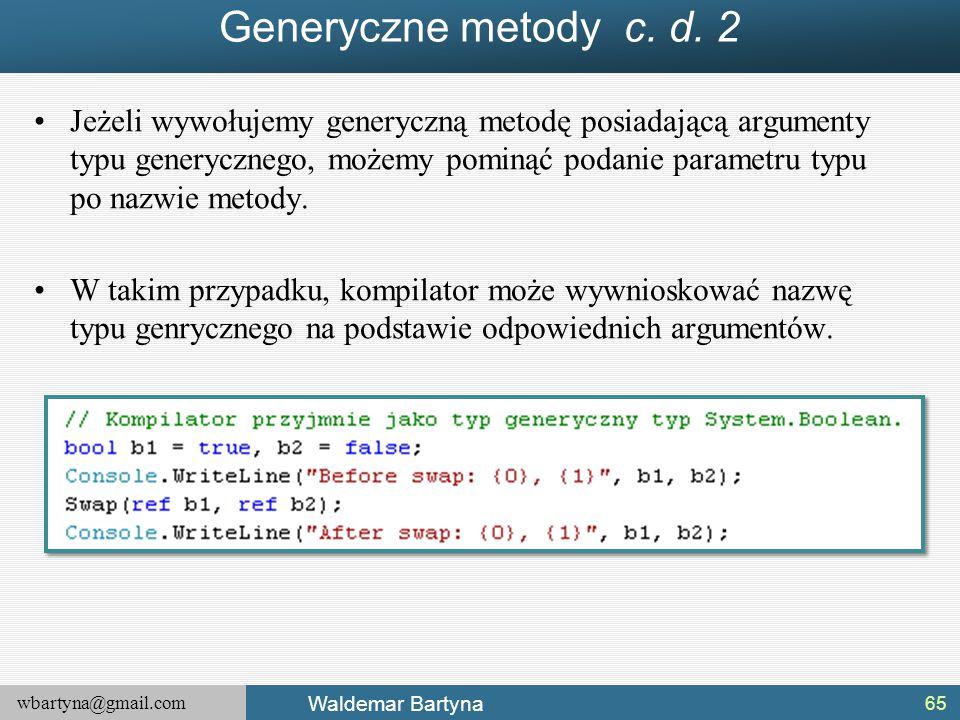 Generyczne metody c. d. 2