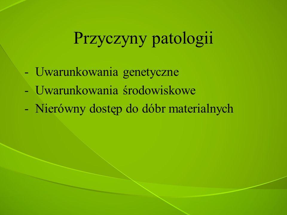 Przyczyny patologii Uwarunkowania genetyczne