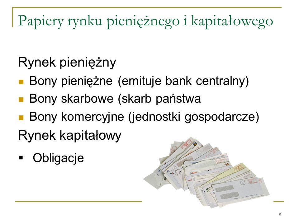 Papiery rynku pieniężnego i kapitałowego