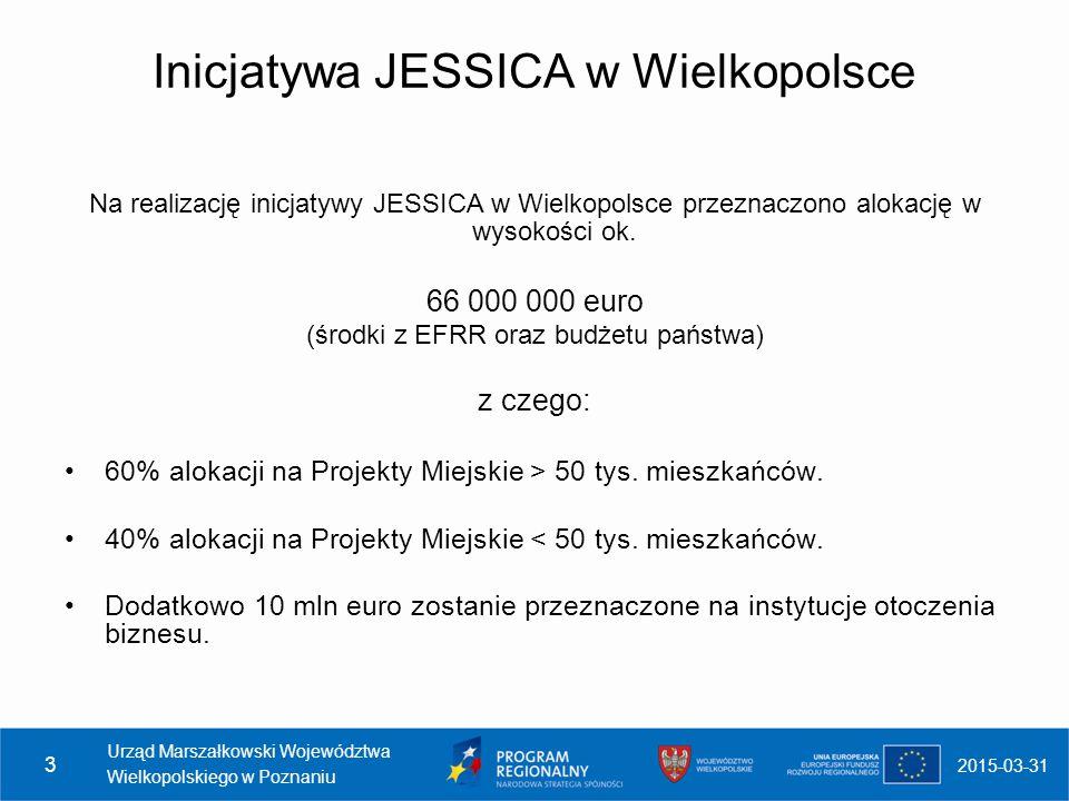 Inicjatywa JESSICA w Wielkopolsce