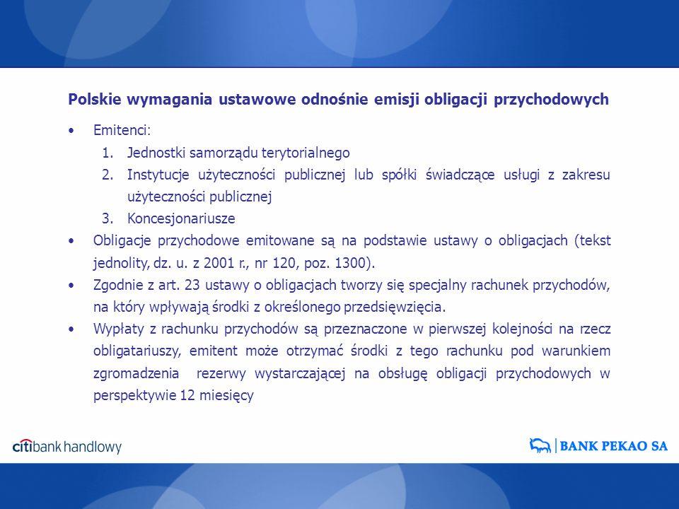 Polskie wymagania ustawowe odnośnie emisji obligacji przychodowych