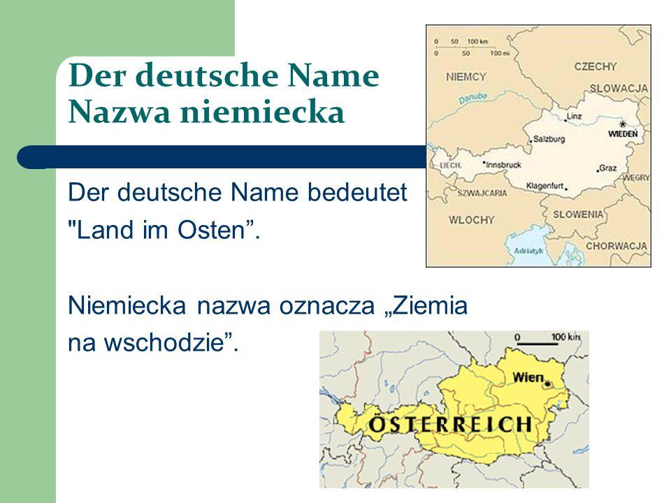 Der deutsche Name Nazwa niemiecka