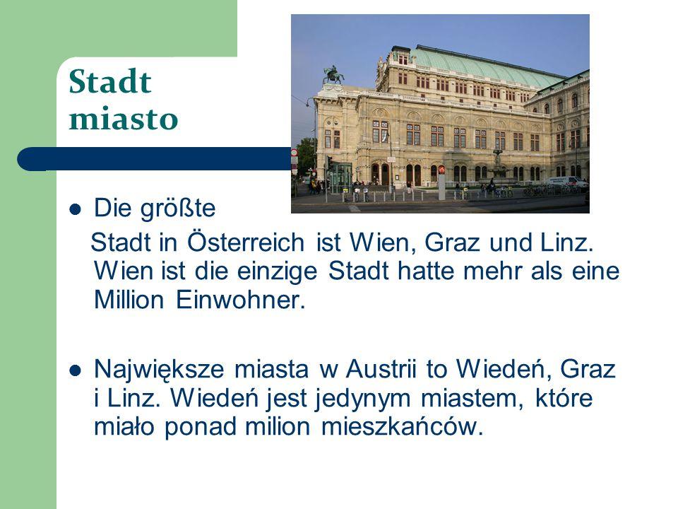 Stadt miasto Die größte