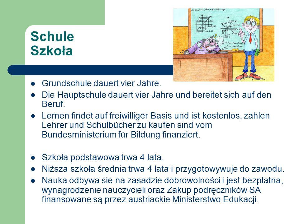 Schule Szkoła Grundschule dauert vier Jahre.