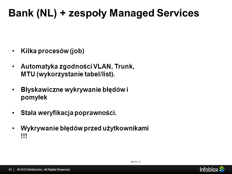 Bank (NL) + zespoły Managed Services