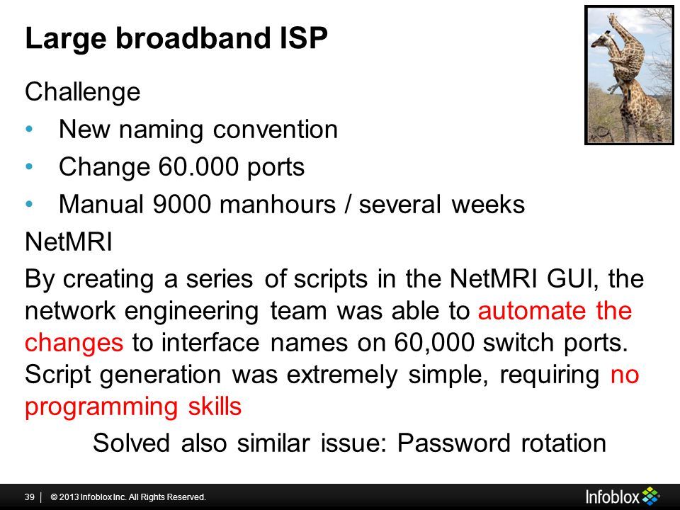 Large broadband ISP Challenge New naming convention
