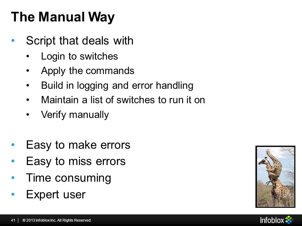 The Manual Way Script that deals with Easy to make errors
