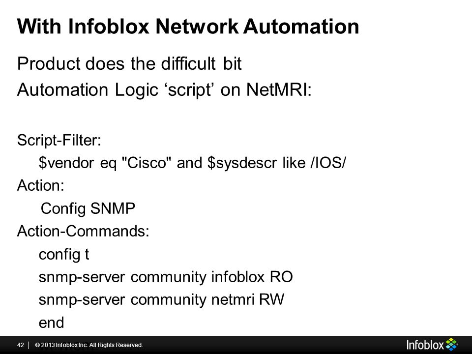 With Infoblox Network Automation