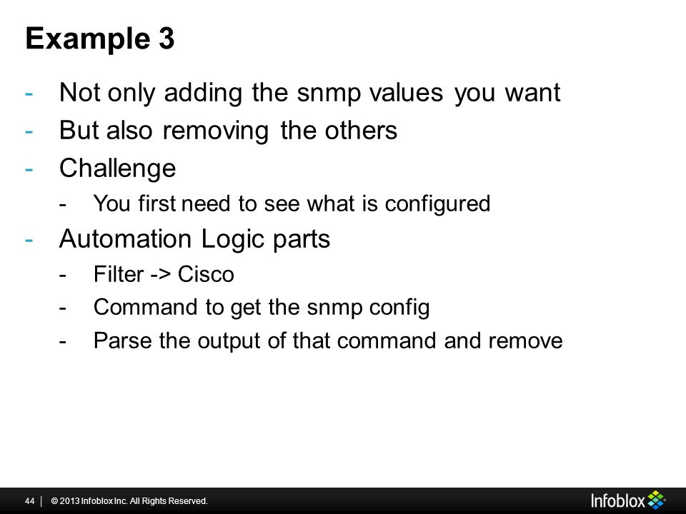 Example 3 Not only adding the snmp values you want