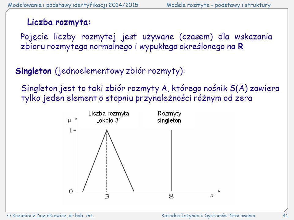 Liczba rozmyta: Pojęcie liczby rozmytej jest używane (czasem) dla wskazania zbioru rozmytego normalnego i wypukłego określonego na R.