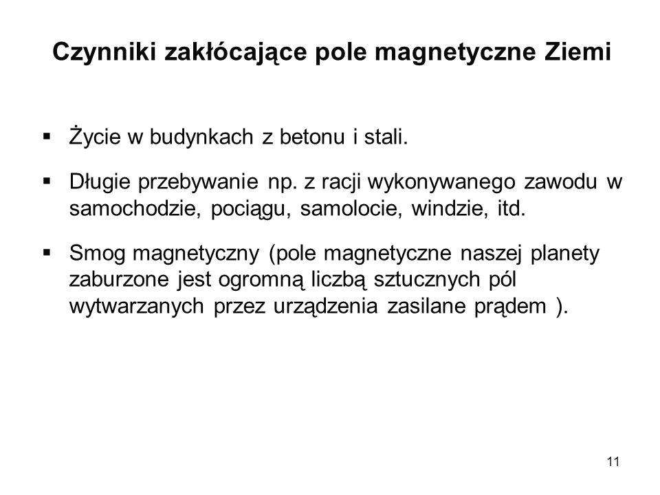 Czynniki zakłócające pole magnetyczne Ziemi