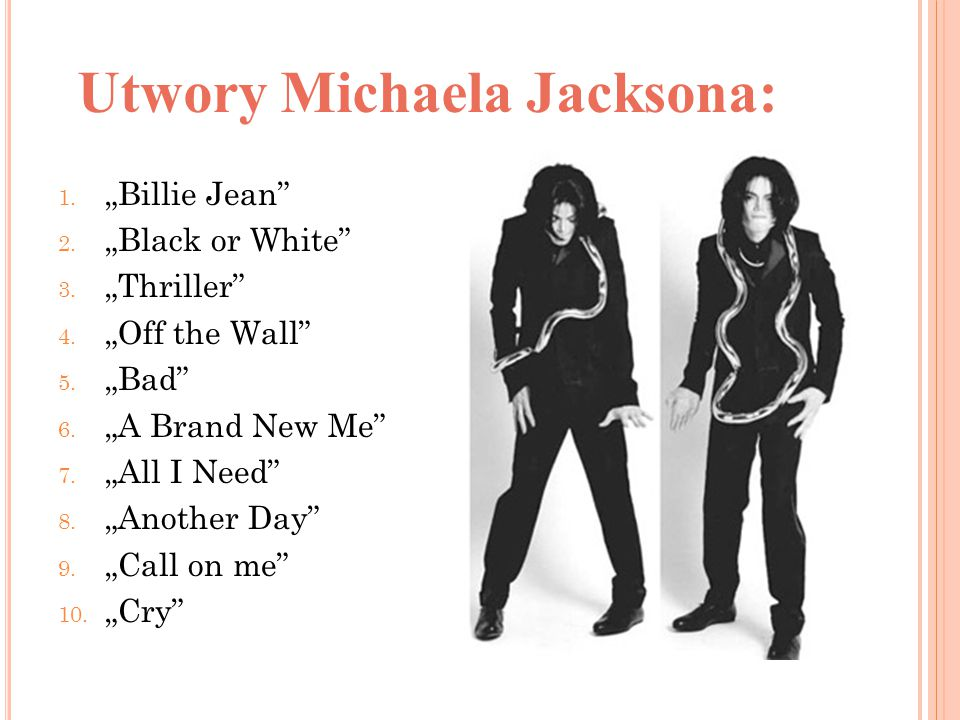 Utwory Michaela Jacksona: