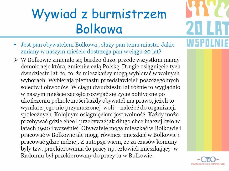Wywiad z burmistrzem Bolkowa