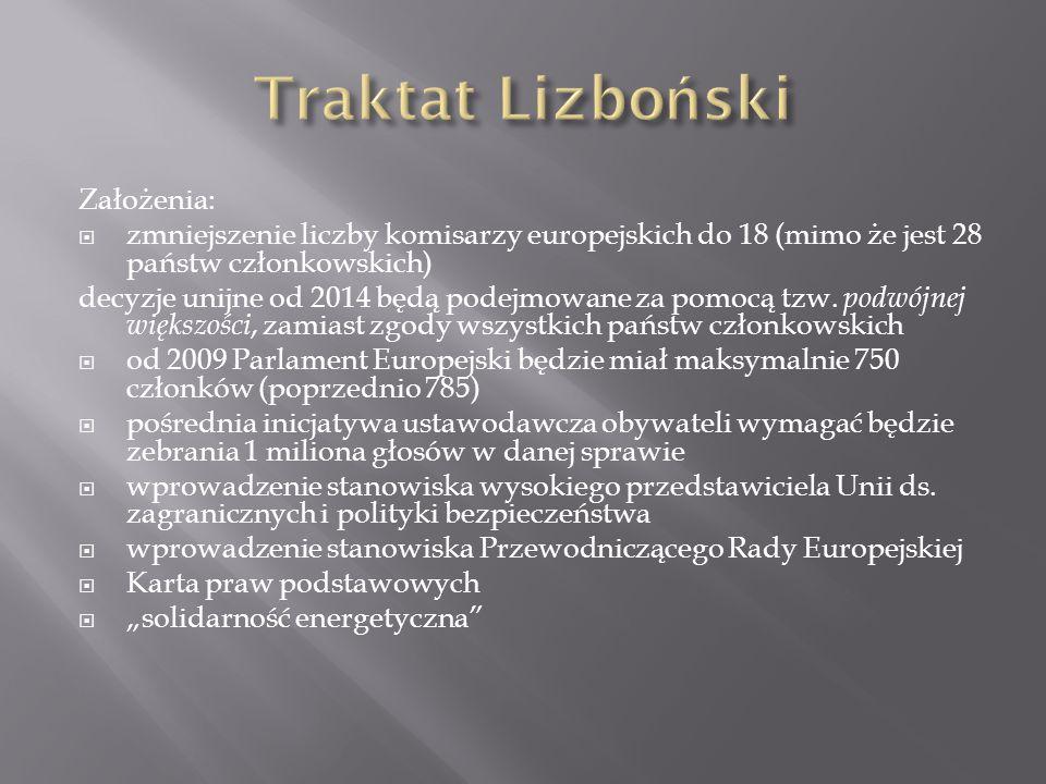 Traktat Lizboński Założenia: