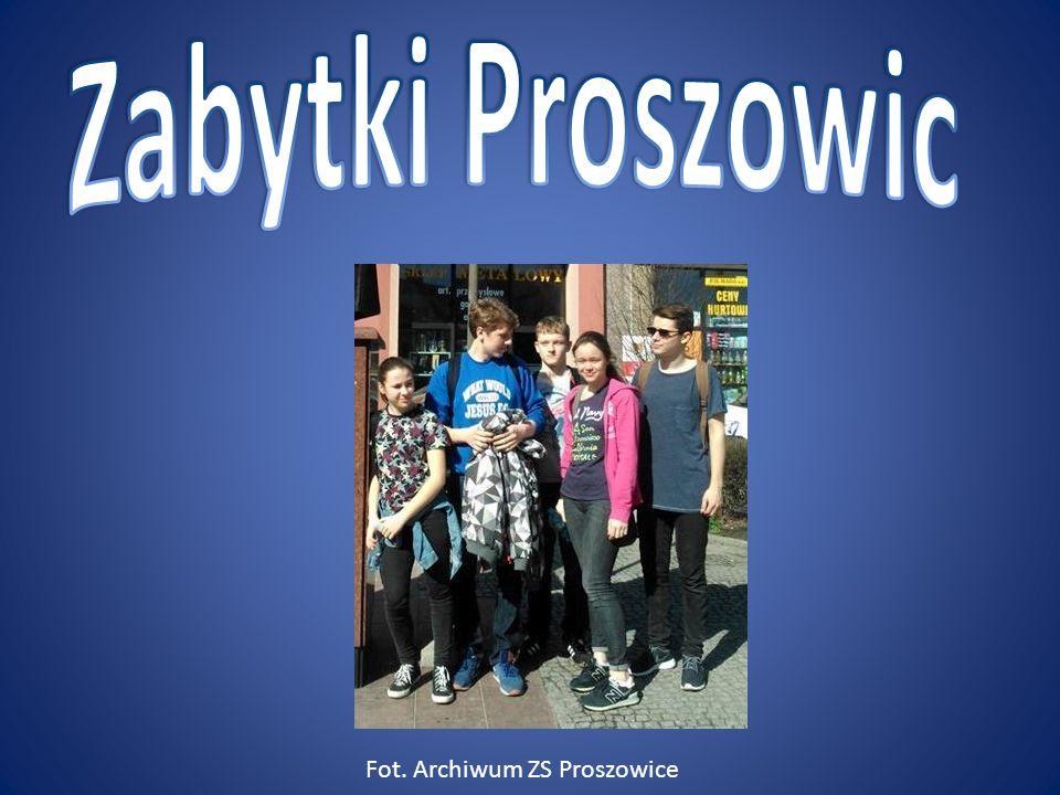 Zabytki Proszowic Fot. Archiwum ZS Proszowice