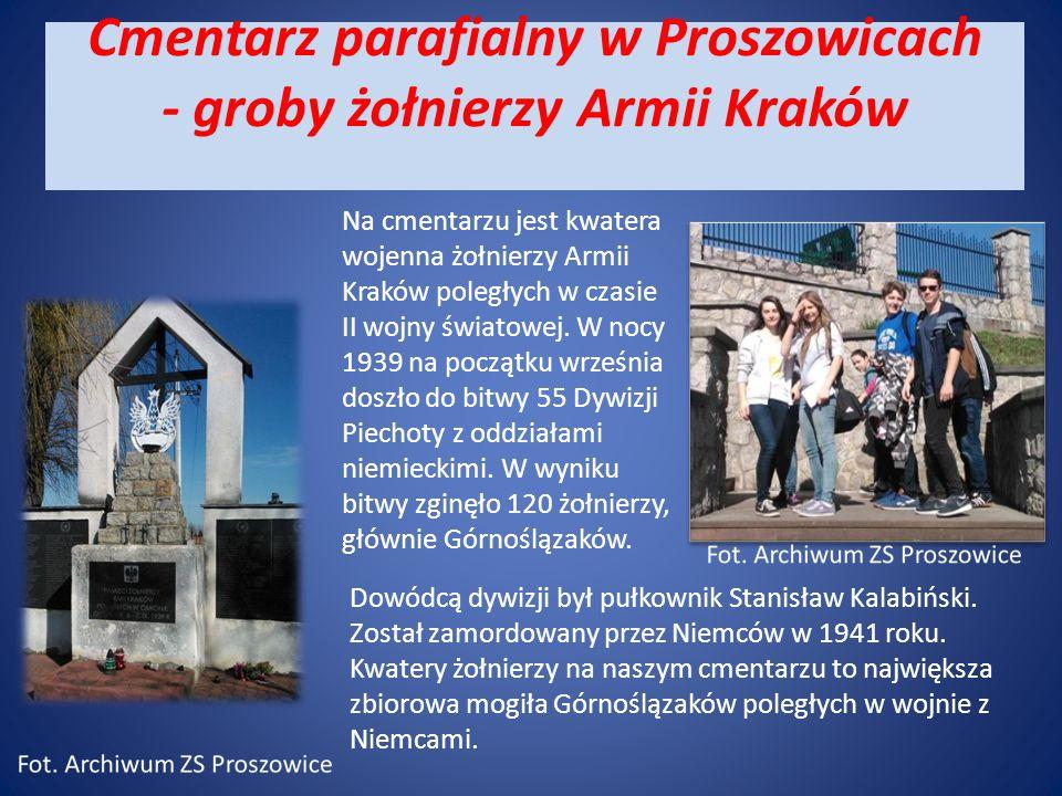 Cmentarz parafialny w Proszowicach - groby żołnierzy Armii Kraków