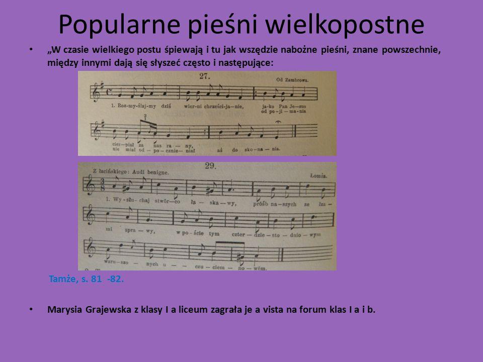 Popularne pieśni wielkopostne