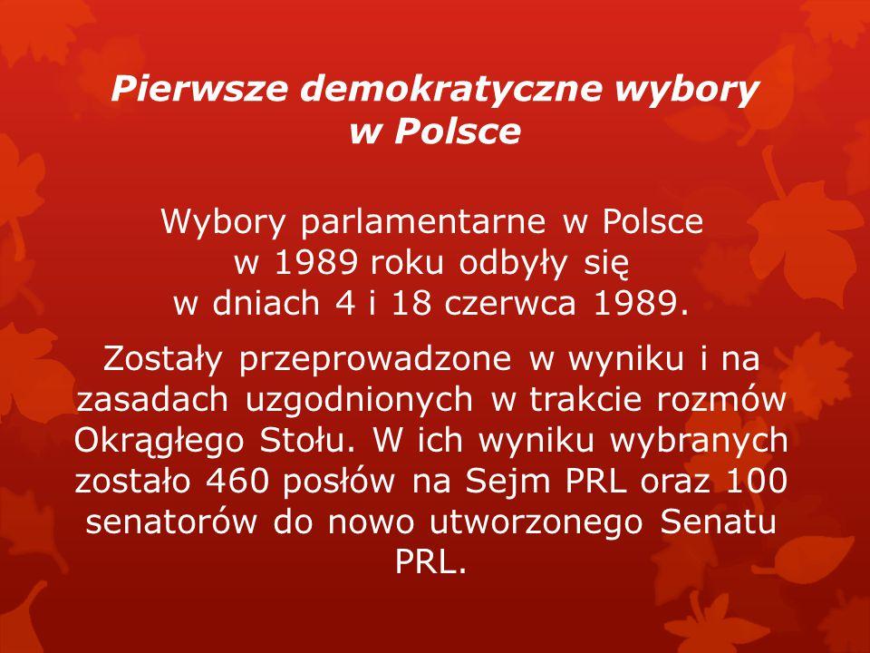 Pierwsze demokratyczne wybory w Polsce