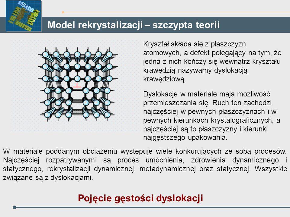 Model rekrystalizacji – szczypta teorii