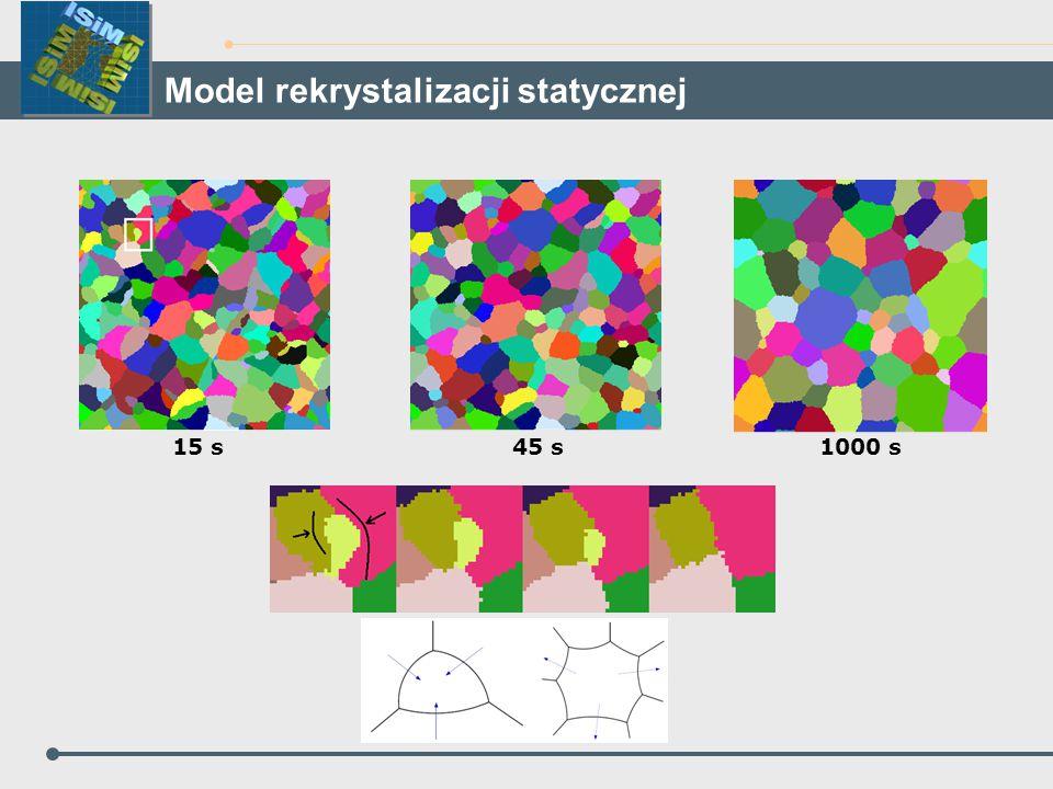 Model rekrystalizacji statycznej