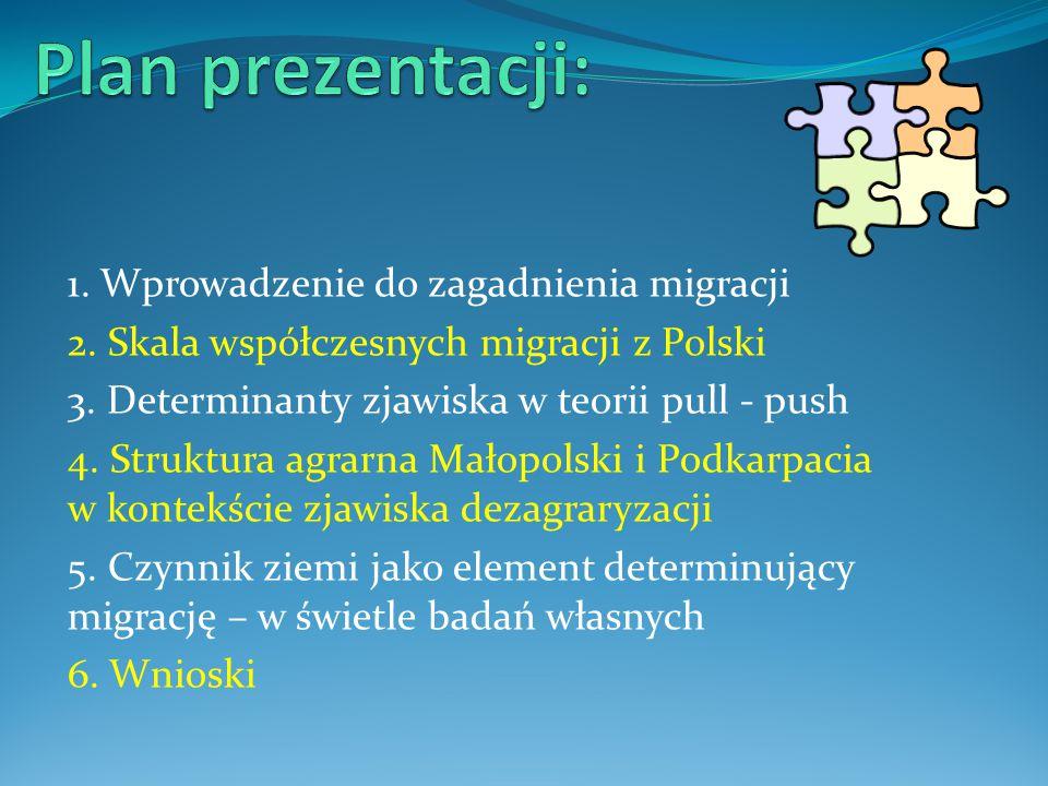 Plan prezentacji: 1. Wprowadzenie do zagadnienia migracji