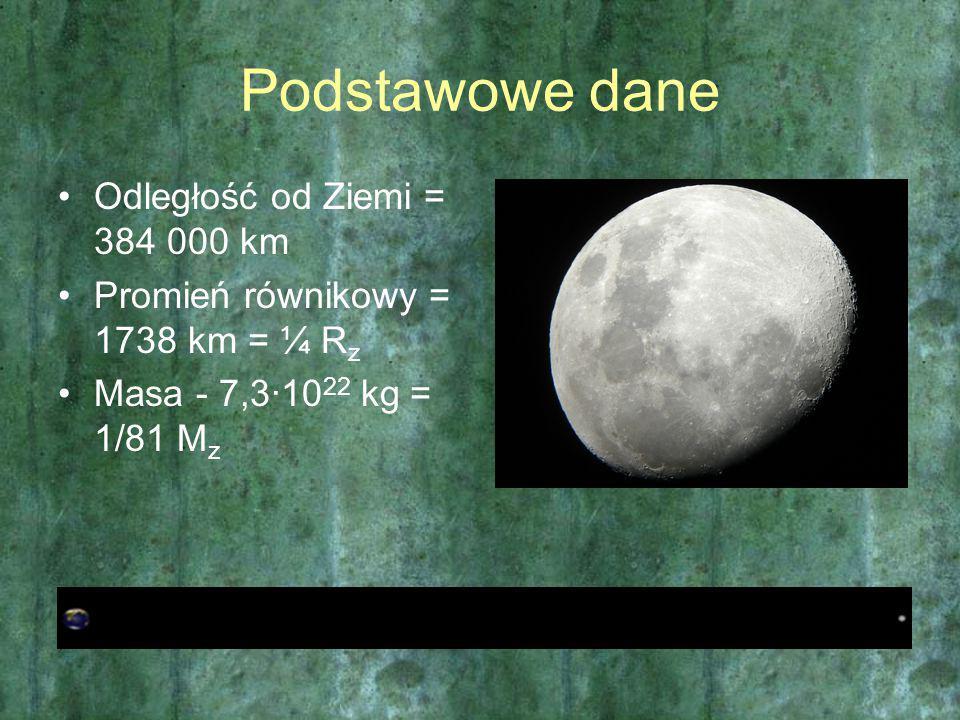 Podstawowe dane Odległość od Ziemi = 384 000 km