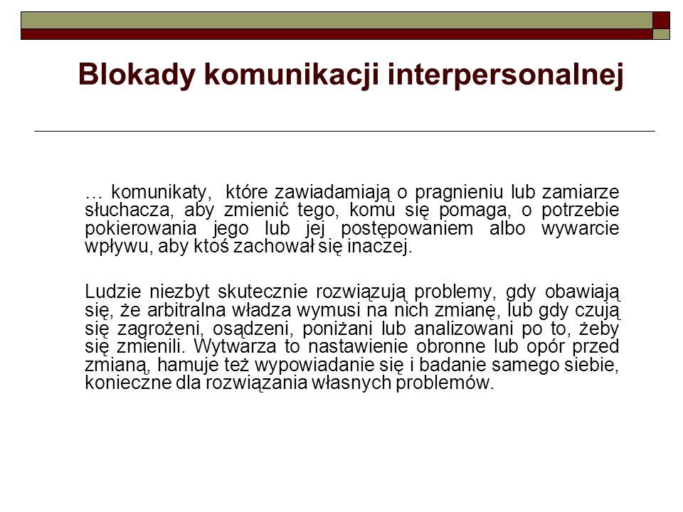Blokady komunikacji interpersonalnej