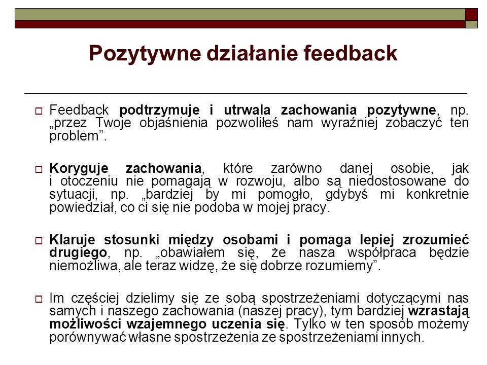 Pozytywne działanie feedback